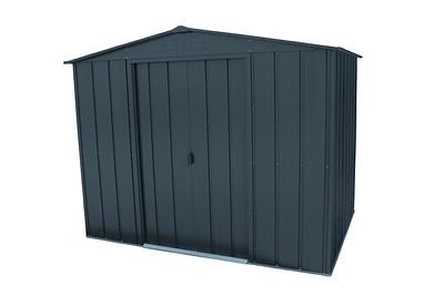 8x6 Top Metal shed Grey