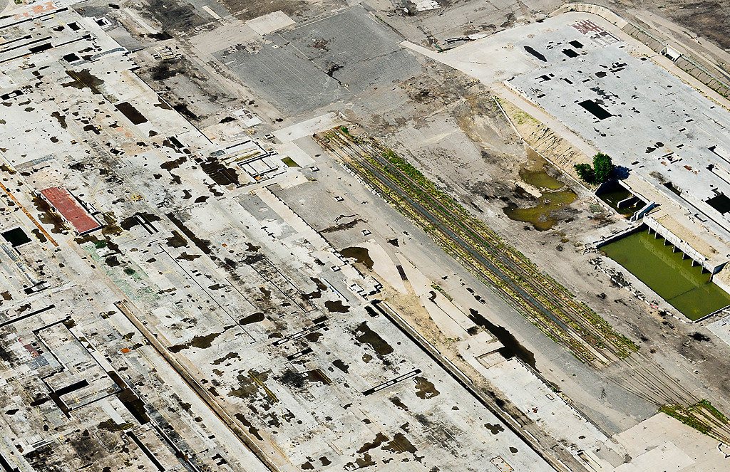 . The barren land where the Ford Plant once stood in St. Paul. (Pioneer Press: Ben Garvin)