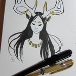 portrait of a deer-person
