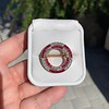 2.90ctw French Ruby and Diamond Brooch, by La Cloche Fres of Paris 13