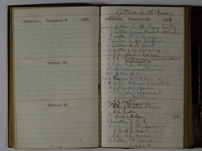 1878 AC Stebbins Diary & Expense book