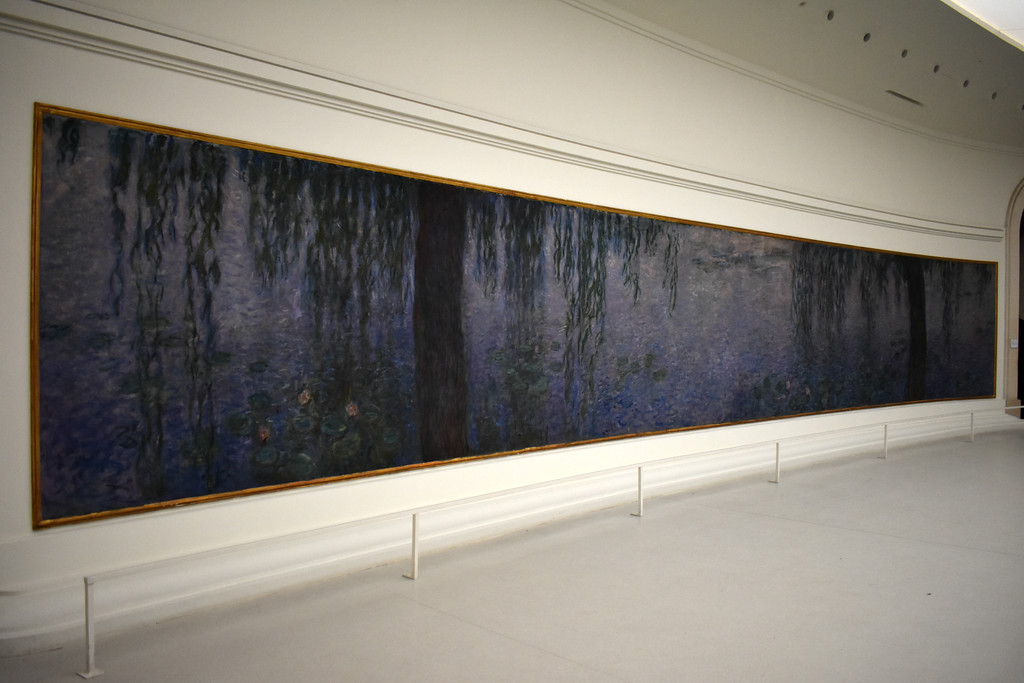 Monet's Water Lilly murals in Musée de l'Orangerie in Paris, France