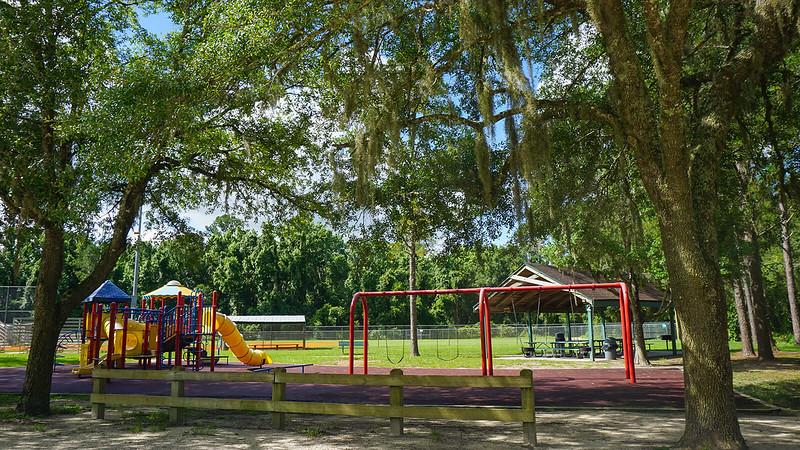 Playground under oaks