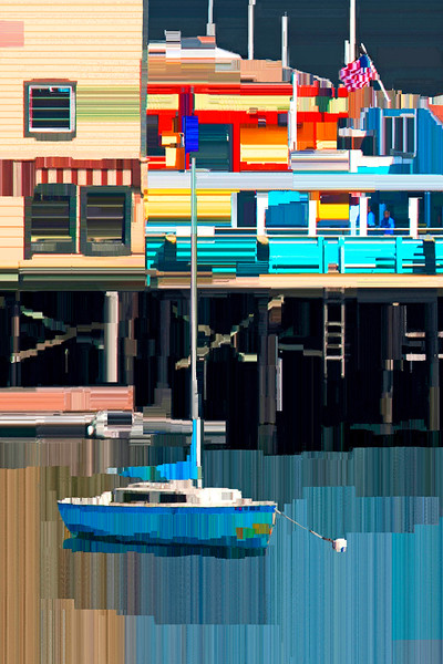 Sail Boat and Fisherman's Wharf - Digital Painting