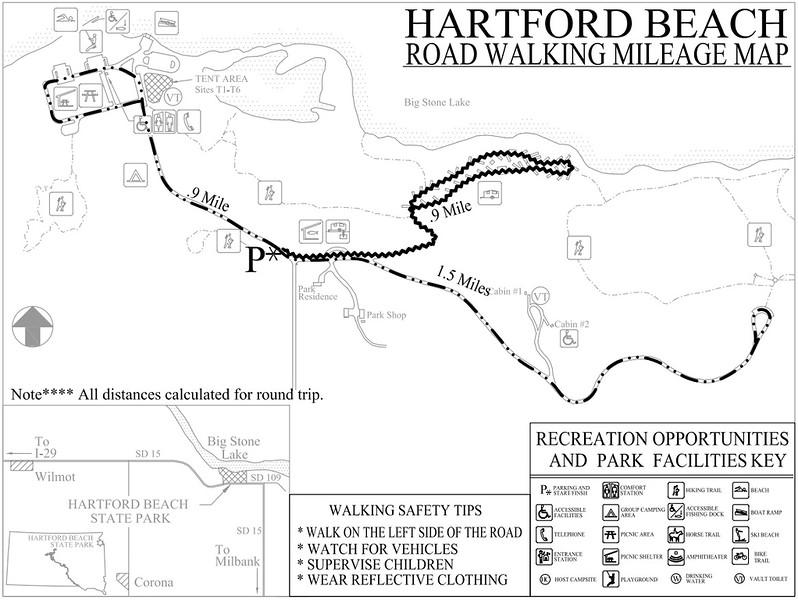 Hartford Beach State Park (Road Walking Map)
