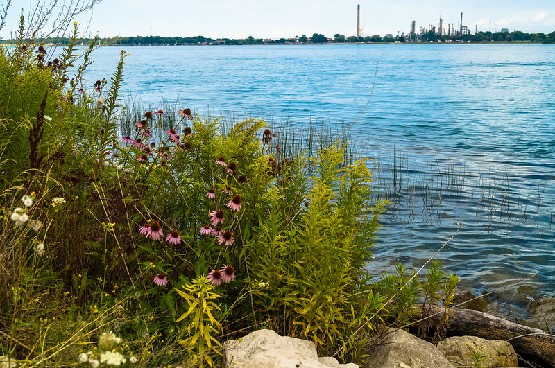 St. Clair River overlooking Canada