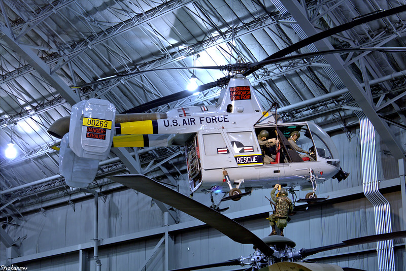 National Museum of the United States Air Force, Dayton, Ohio,   04/13/2019  Kaman HH-43B Huskie C/N 87 60-0263.   The HH-43B on  display (serial number 60-0263) established seven world  records in 1961-1962 for helicopters in its class for rate of  climb, altitude, and distance traveled.   This work is licensed under a Creative Commons Attribution- NonCommercial 4.0 International License.