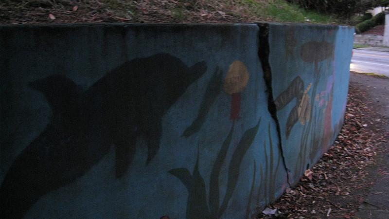Public art mural.
