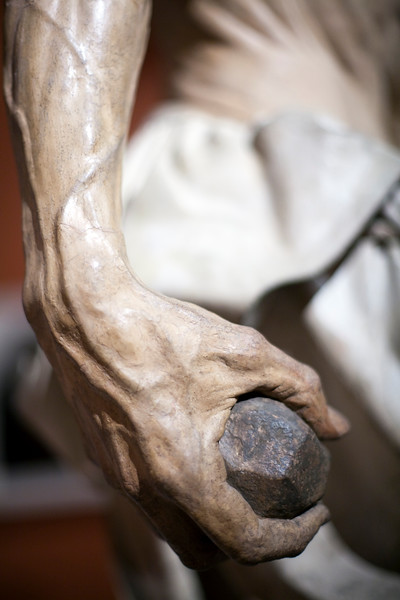 Detail from St. Jerome (Hieronymus), sculpture by Pietro Torrigiano (1525),  Fine Arts Museum, Seville, Spain