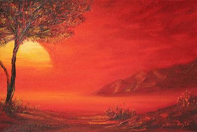"""""""Savanna"""" (oil on canvas) by Dinara Aristo"""