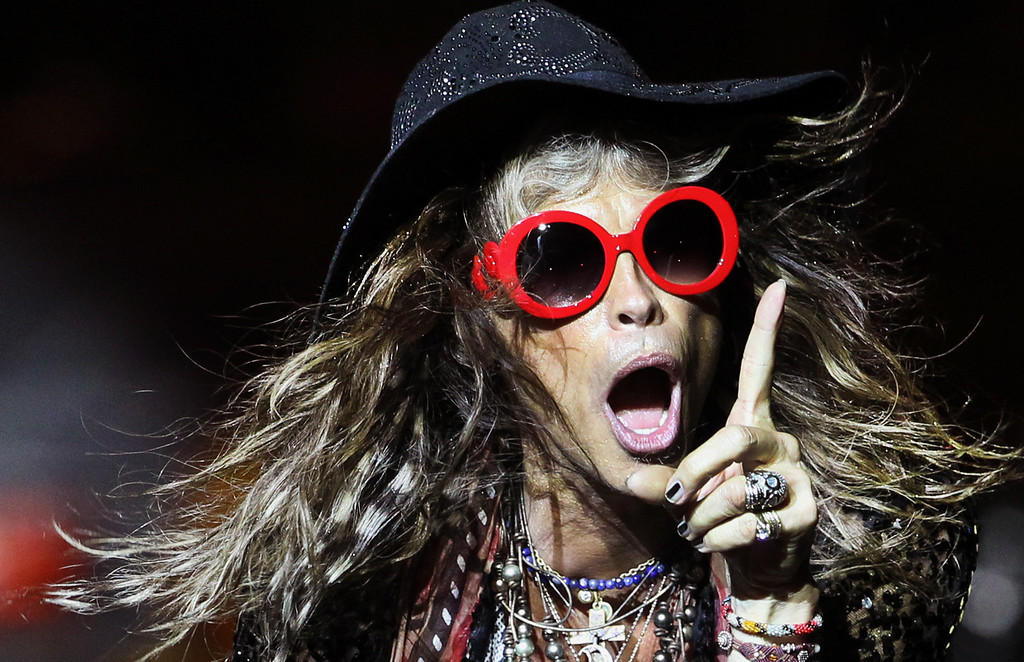 . Steven Tyler, lead singer of American rock band Aerosmith performs on Saturday, May 25, 2013, in Singapore during the inaugural Social Star Awards concert. (AP Photo/Wong Maye-E, File)