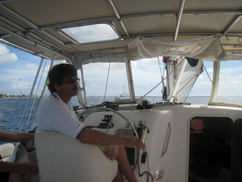 The Captain on the Mushi Mushi.