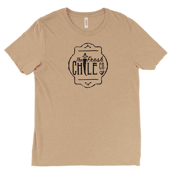 Fresh Chile Company Logo - Vintage Farmers Market T-Shirt - Tan.jpg