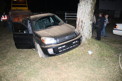 Car Into Tree, Summer Valley Road, West Penn (3-12-2012)