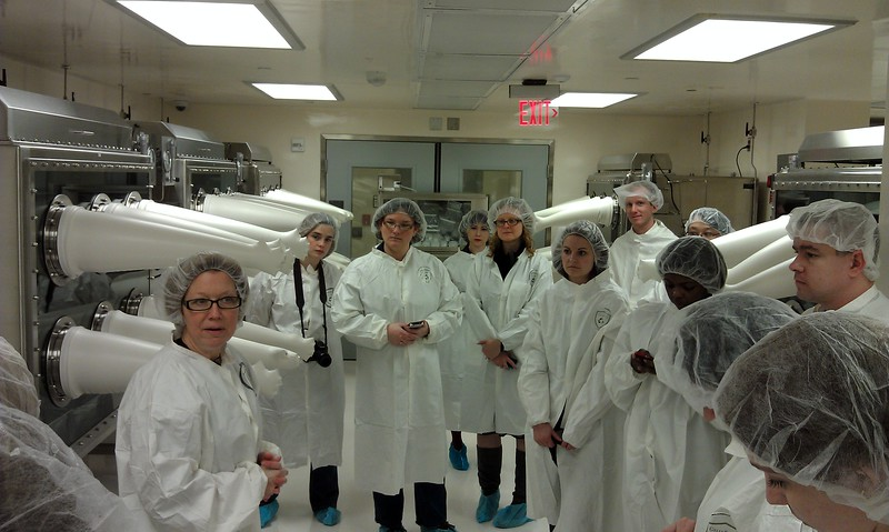 Linda Welzenbach, manager of the National Meteorite Collection, describes the meteorites and laboratory.
