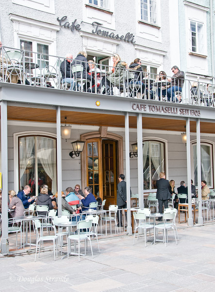 Famous Cafe Tomaselli in Salzburg