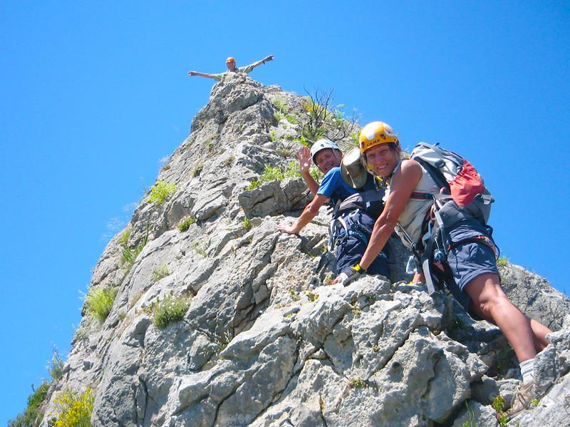 free climbing on the Benicadell Ridge