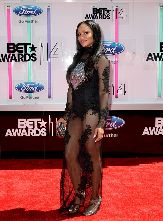. Actress Erica Hubbard attends the BET AWARDS \'14 at Nokia Theatre L.A. LIVE on June 29, 2014 in Los Angeles, California.  (Photo by Earl Gibson III/Getty Images for BET)