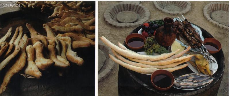 007_Georgian_cuisine_Hot_Bread_Trout_Greens_vegetables_Wine.jpg