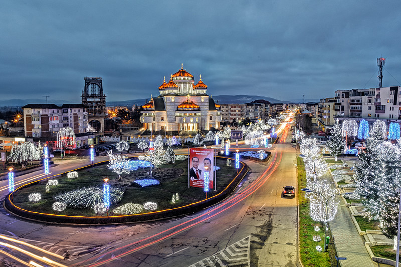 Chrismas Lights in Mioveni City Center