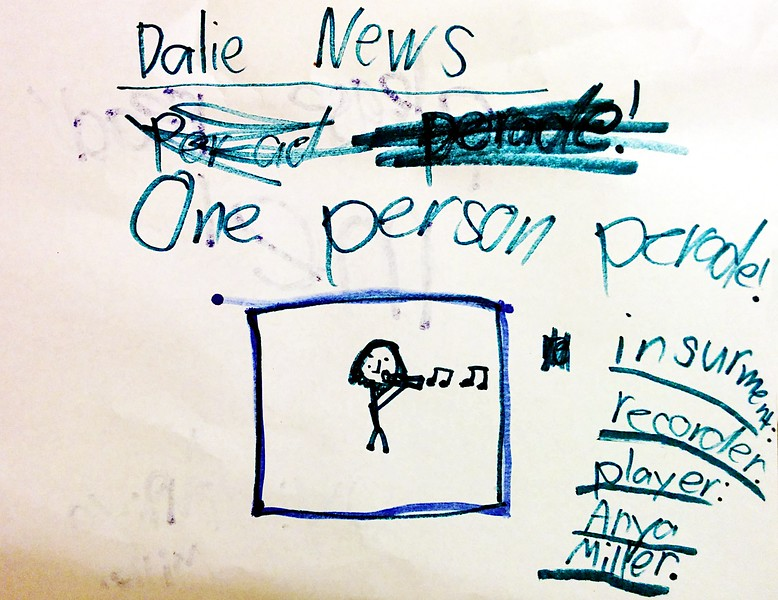 """Dalie News: One person perade!"""