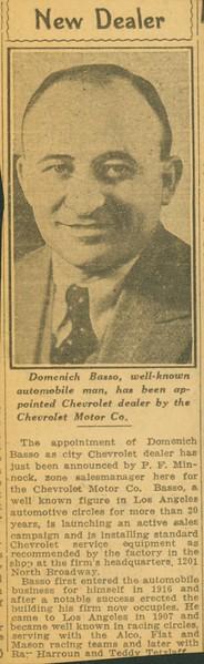 1931, New Chevrolet Dealer