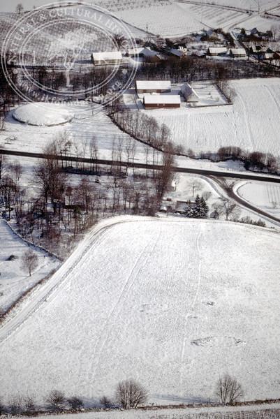 Prehistoric monument and remains approx 0.3 km southwest Vitaby [Grevlunda] motte [Borgvallen] (20 February, 1988). | LH.0196
