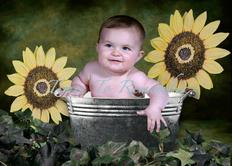 Green Tin Sunflower Bucket-.jpg