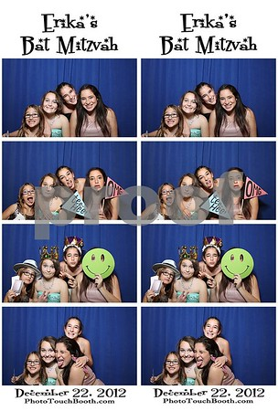Erika's Bat Mitzvah Photo Strips