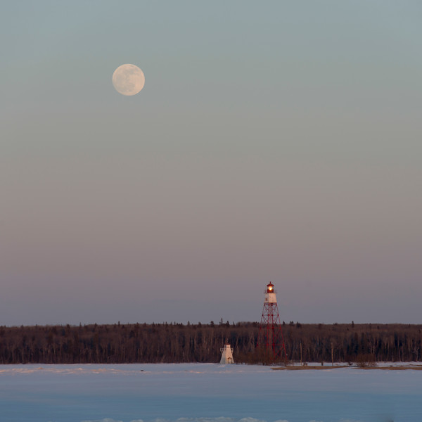 Lighthouse and watch tower, Riverton, Hecla Grindstone Provincial Park, Manitoba, Canada