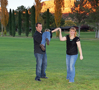 Photo Shoot - Jensen & Warner Families; Oak Creek GC, Sedona/AZ; November 22, 2012
