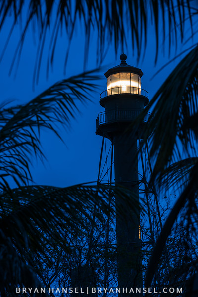 Sanibel Lighthouse at Blue Hour