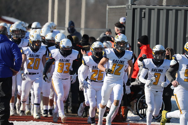 Saline Football vs Rockford. Regional Final. Jan 9 2021