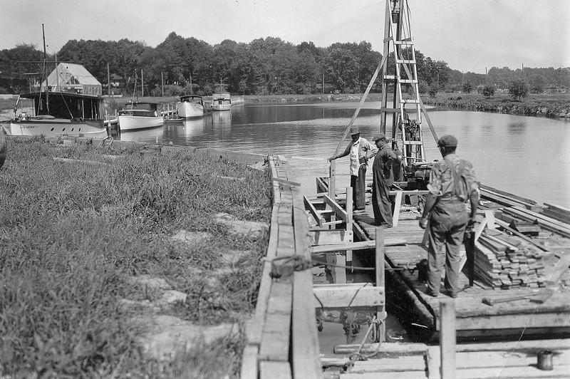 First VYC docks, 1933