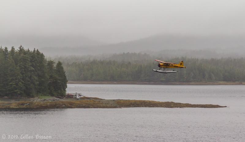 Plane taking off in Ketchikan, Alaska, June 25 2012