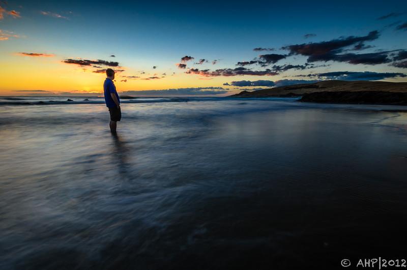 Admiring the last west coast sunset