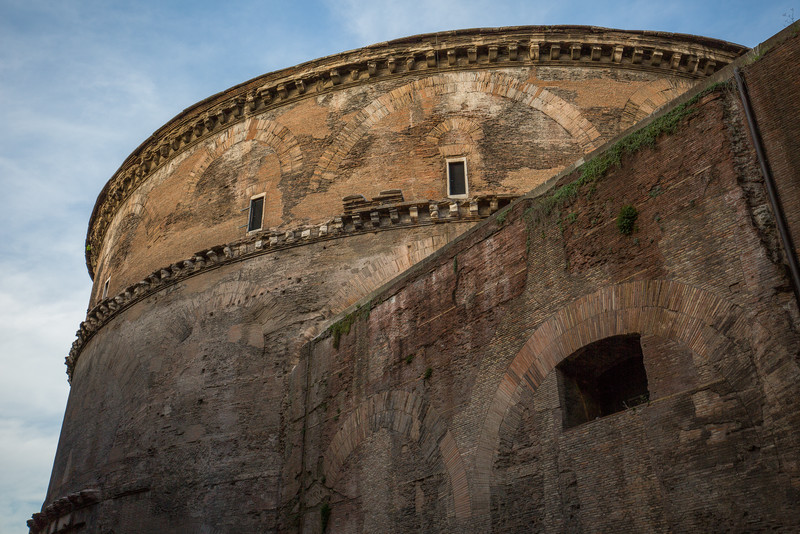 Back side of the Pantheon.