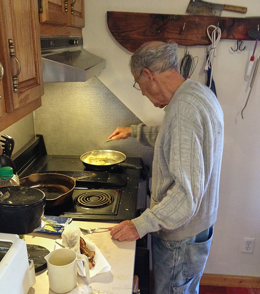 Larry Lebin cooking me breakfast. Oct 13 2012