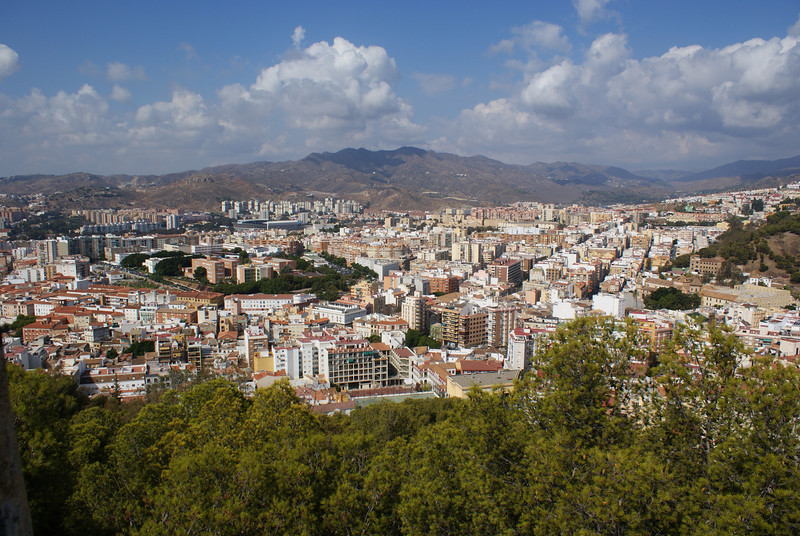 Gibralfaro Castle view of Malaga, Spain