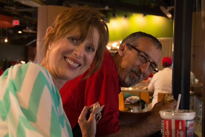 Phil and Cindy at Cards Game - June 4, 2013