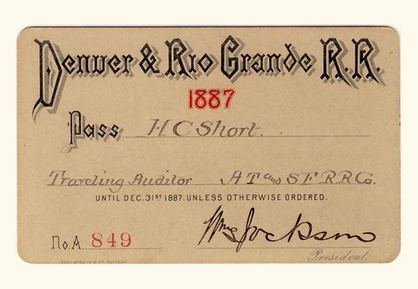 D&RG Railroad 1887