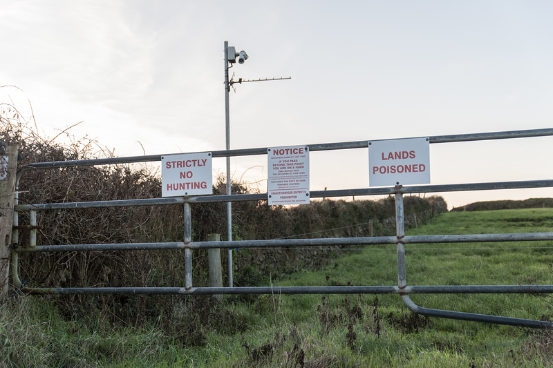 On a really tiny little road near Tramore saw this sign on a farm