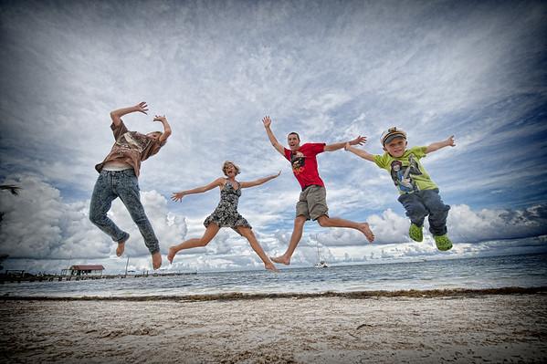 Hunt Family Photos 2012 Ambergris Caye, Belize