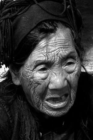 Asie   portraits  séniors  Noir & blanc