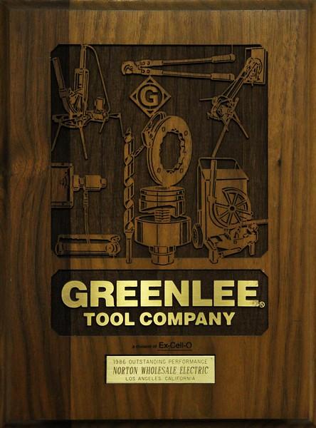 1986, Greenlee Tool Company Award