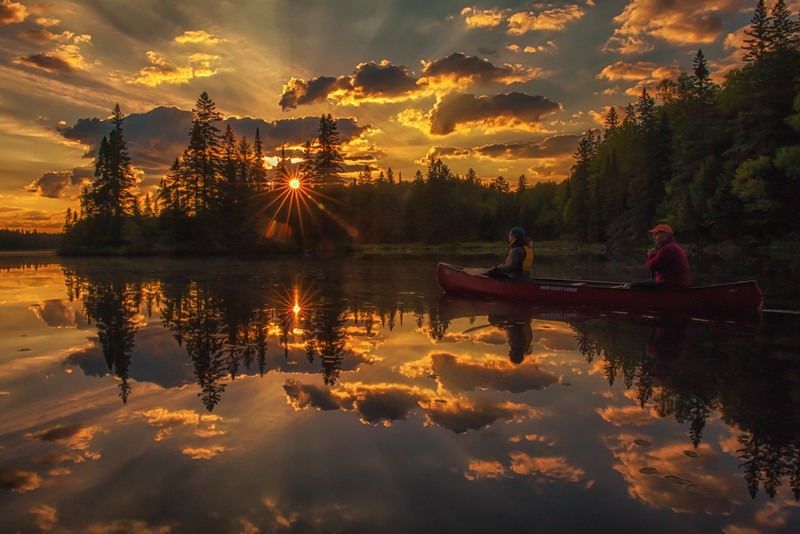 Sunrise Canoe in Algonquin Park