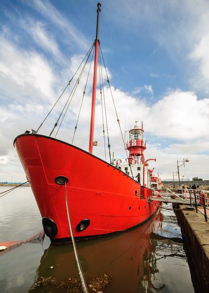 Lightship in Cardiff Docks