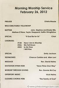 2012 Bethesda Baptisms
