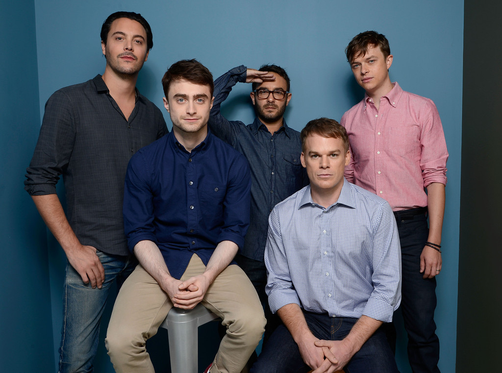 . (L-R) Actor Jack Huston, actor Daniel Radcliffe, director John Krokidas, actor Michael C. Hall and actor Dane DeHaan of \'Kill Your Darlings\' pose at the Guess Portrait Studio during 2013 Toronto International Film Festival on September 8, 2013 in Toronto, Canada.  (Photo by Larry Busacca/Getty Images)