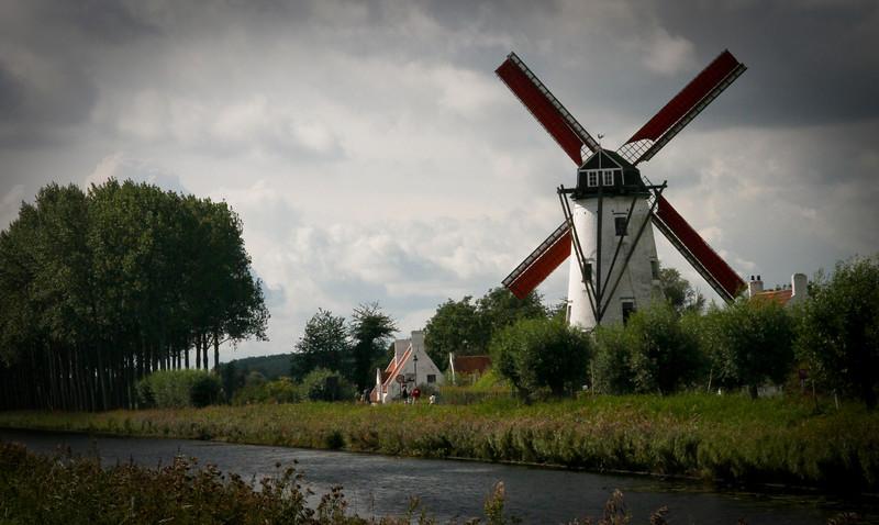 One of the last working windmills in Belgium